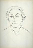 Study for a portrait of Leslie Langer