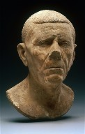 Portrait bust of an old man