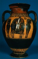 Amphora with scene of the birth of Athena