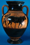 Amphora with Herakles and the Cretan bull