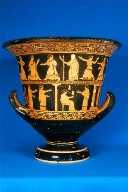 Calyx krater (mixing bowl) with scenes of abduction or pursuit