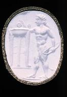 Scaraboid intaglio with Apollo and tripod