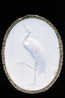 Scaraboid intaglio with heron