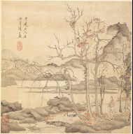 Paintings after Ancient Masters: Taoist and Crane in Autumn Landscape