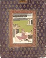 Portrait of Maharaja Savant Singh with consort, Bani Thani