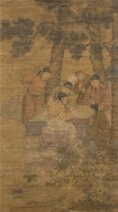 Scholars Playing Chess under a Pine Tree