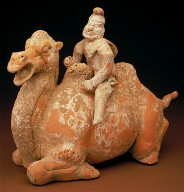 Tomb Figure of a Kneeling Camel with Driver
