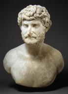 Portrait bust of a bearded man