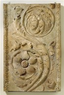 Section of a pilaster with acanthus scrolls