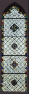 Stained-Glass Window, with Grisaille Decoration