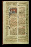 Bifolium, from a Manuscript of the Decretals of Gratian