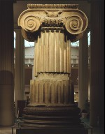 Ionic capital, torus, and parts of a fluted column shaft