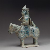 Container in the shape of a horse and rider