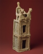 Cult vessel in the form of a tower