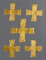 Five Appliqués in the Shape of a Cross