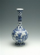 Bottle-Shaped Vase with High Flaring Foot