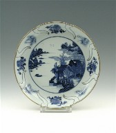 Dish with Foliate Rim