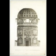 ENGRAVING of the Octagonal Hall at Chiswick