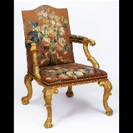 ARMCHAIR with tapestry upholstery