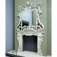 CHIMNEYPIECE AND OVERMANTEL