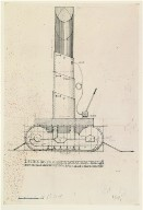 Study for Feasible Monument: Lipstick, Yale