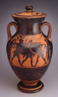 Black-Figure Amphora Lid