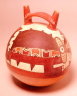 Stirrup-spouted jug with mythological animal