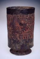 Footed Cylinder vase