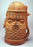 Benin votive head represents an Oba;