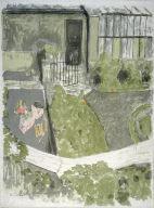 Le jardin devant l'atelier