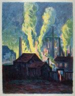 Usines de Charleroi (Blast Furnaces) published as Hochöfen, in Pan IV, I, 1898