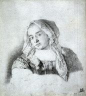 Peasant Girl Wearing a Head Shawl