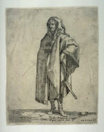Standing Soldier in a Long Cloak, from the series of Soldiers