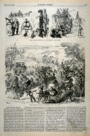 The College Regatta - On the Road to the Lake / Returning from the Lake - p.633 Harper's Weekly, 1 August 1874
