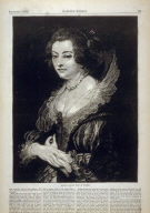 Helena, Second Wife of Rubens - p.709 Harper's Weekly, 8 September 1877