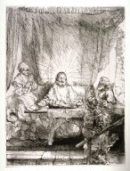 Christ at Emmaus: the larger plate