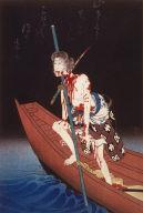 The Actor Onoe Kikugoro III as Shirai Gompachi Committing Suicide