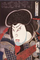 Nakamura Shikan II as Ki no Haseo from an untitled series of bust portraits of actors