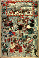 [The Great Battle in the Snow at Osaka, a Five Sheet Cut Out Asembly print]