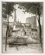 Vieilees Maisons et Notre Dame de Paris