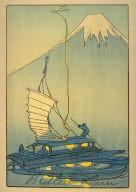 Boat Seen Against Mount Fuji