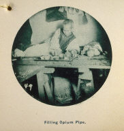 Photographic Album: Chinatown, San Francisco: Filling Opium Pipe