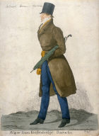 "Caricature (full figure) of Captain Horace Seymour - ""A View from Knightsbridge Barracks"""