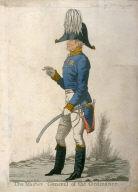 "Caricature (full figure) of Duke of Wellington - ""The Master General of Ordinance"""