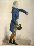 "Caricature (full figure) of Sir Francis Burdett - ""Westminster's Story"""