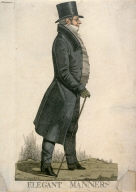 "Caricature (full figure) of Lord Manners - ""Elegant Manners"""