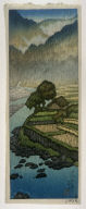 Yabakei (landscape with a Peasant Cart in the Rain)