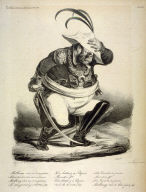 Malbroug s'en va-t-en guerre . . ., pl. 458 from La Caricature (Journal) No. 220, published 22 January 1835