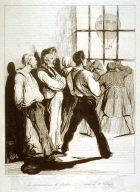 Les réjouissances de Juillet,........vues de Ste.Pélagie, published in Le Charivari 29-30 July 1834