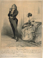 Un mariage d'argent, no. 26 from the series Caricaturana, published in Le Charivari 19 January 1837